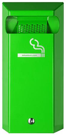 Buitenasbak wand eco groen